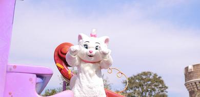 ディズニーの猫キャラクター★パークで会える&パレードに登場する6匹!