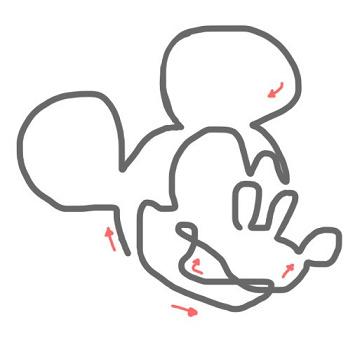 ミッキーの書き方!ニモ、スティッチ、ディズニープリンセスの書き方とミッキーの一筆書き