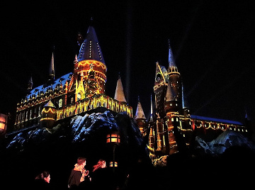 【2018】ホグワーツマジカルナイト鑑賞ガイド!USJハリーポッター城のプロジェクションマッピング