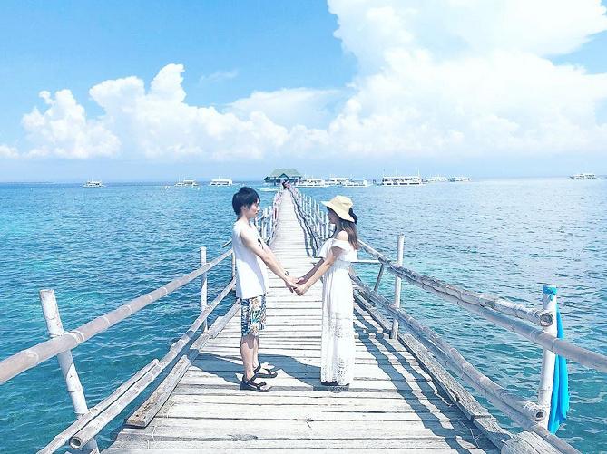 【ナルスアン島】桟橋やインスタ映えスポットがある無人島へ、セブ島から日帰りアイランドホッピングでGO!