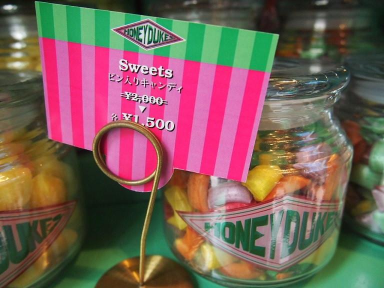 ハニーデュークス瓶入りキャンディ