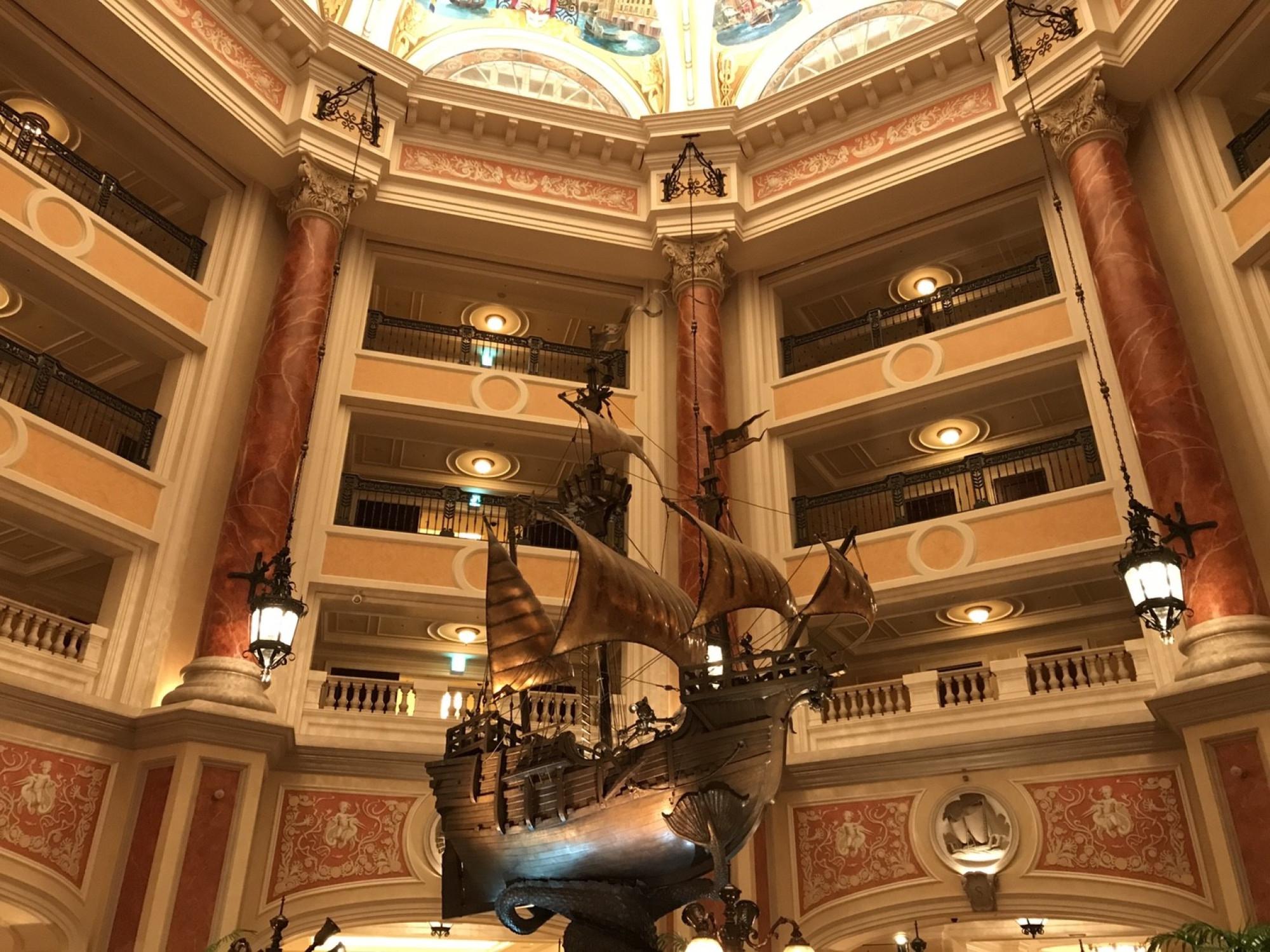 ホテルミラコスタ内の様子