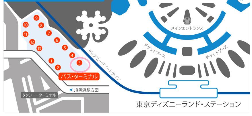 東京ディズニーランド・スターミナル地図