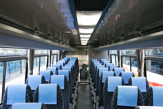 リムジンバスのシートは柔らくなっていますよ!