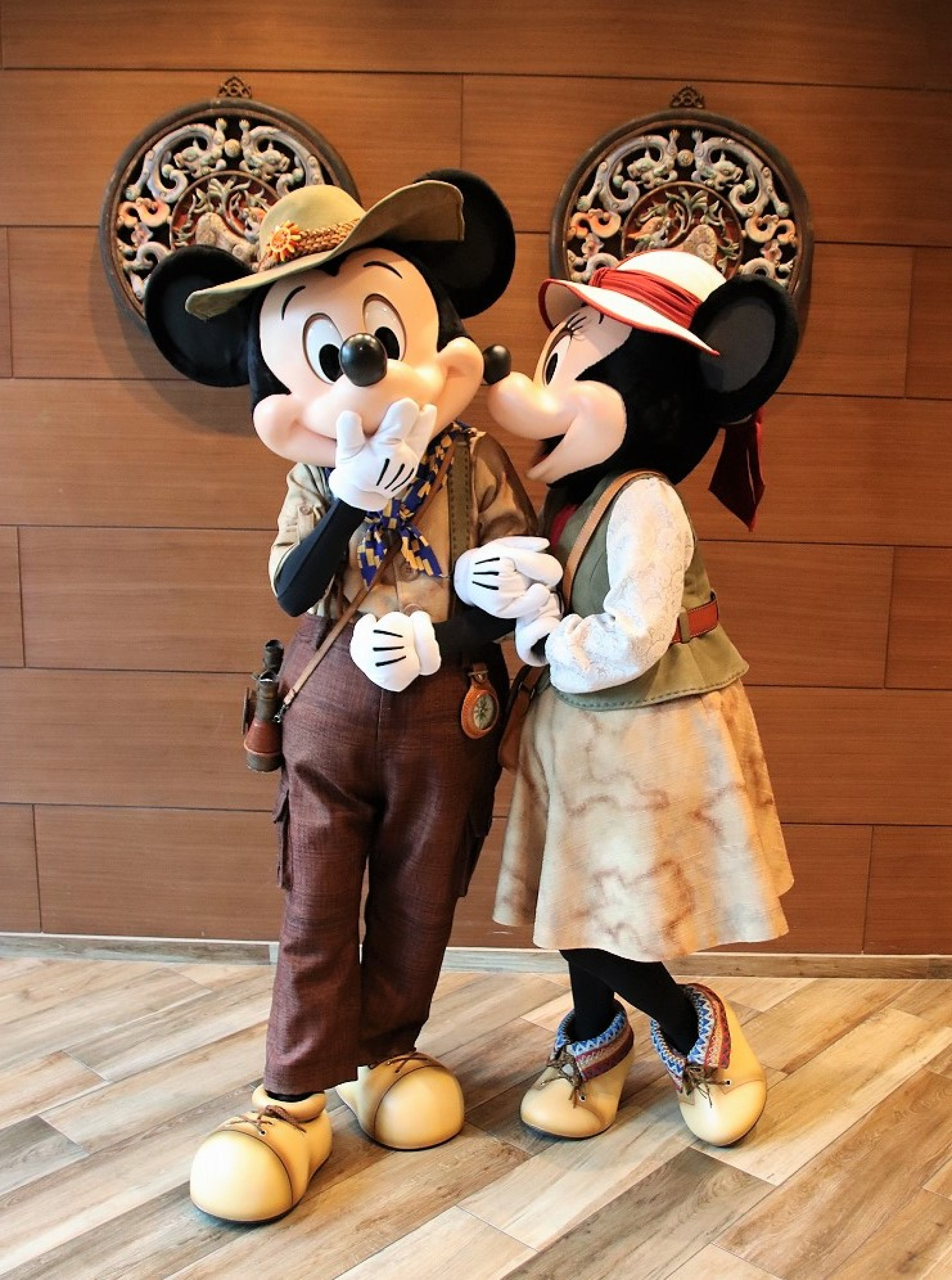 ミッキーとミニーのツーショット