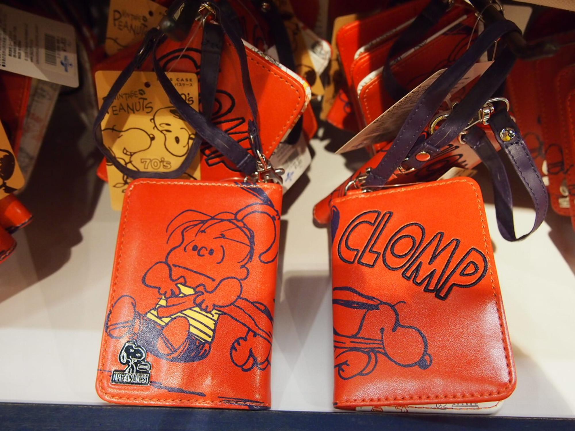 スヌーピー&ライナス二つ折りパスケース