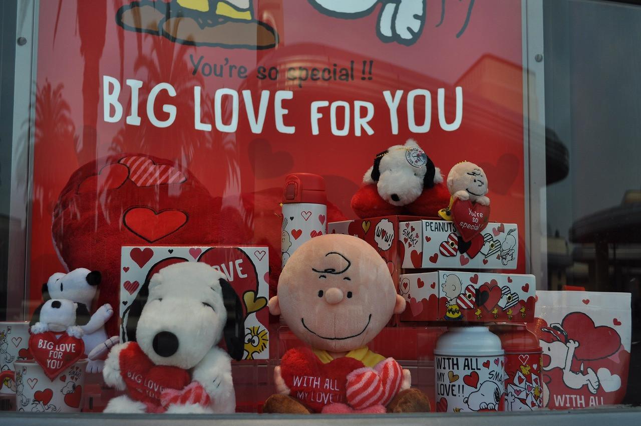 スヌーピー「BIG LOVE FOR YOU」ディスプレイ