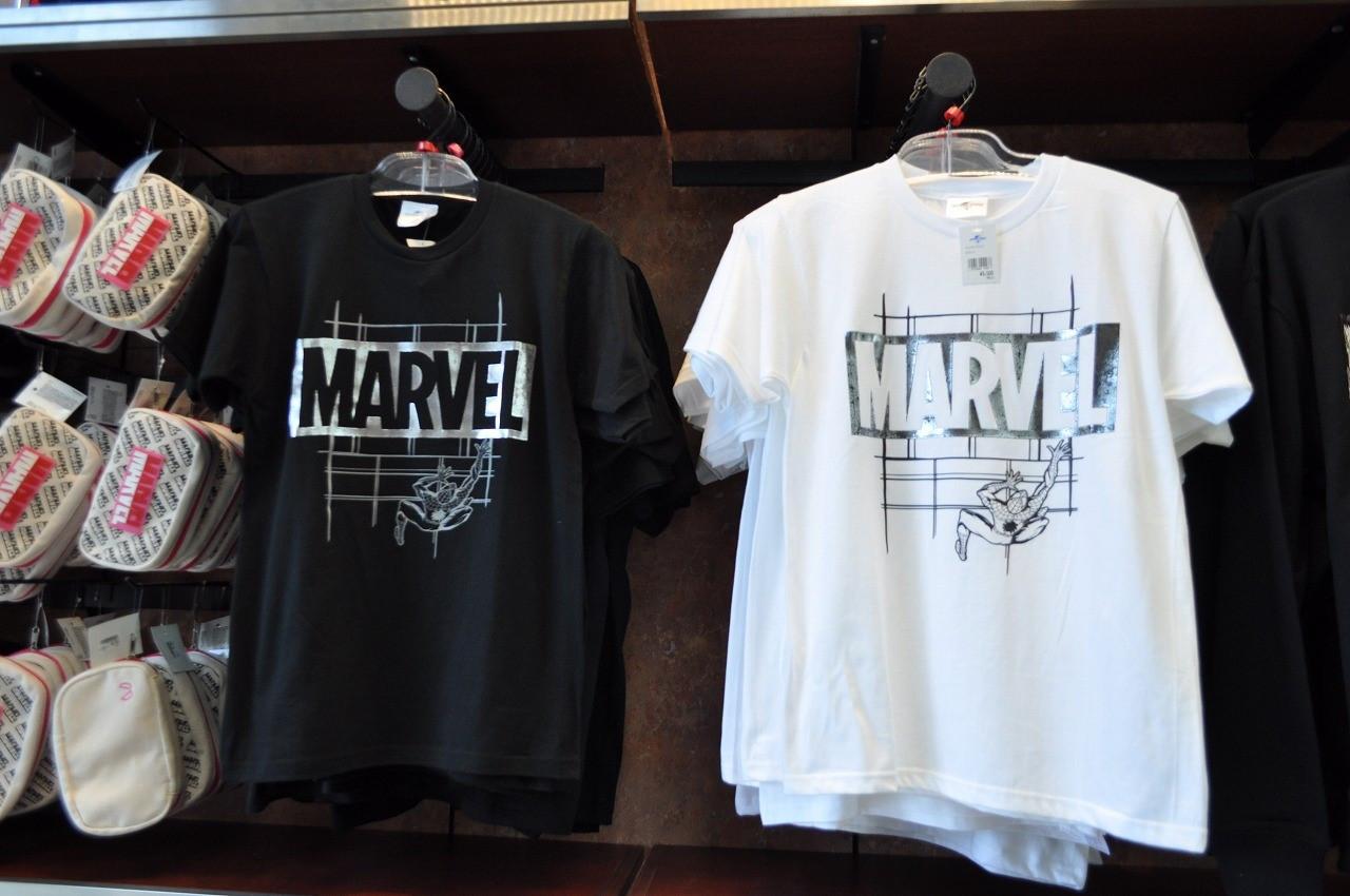 マーベルロゴデザインスパイダーマンTシャツ