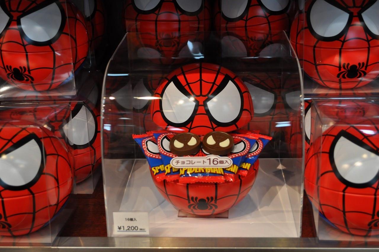 スパイダーマン缶入りチョコレート