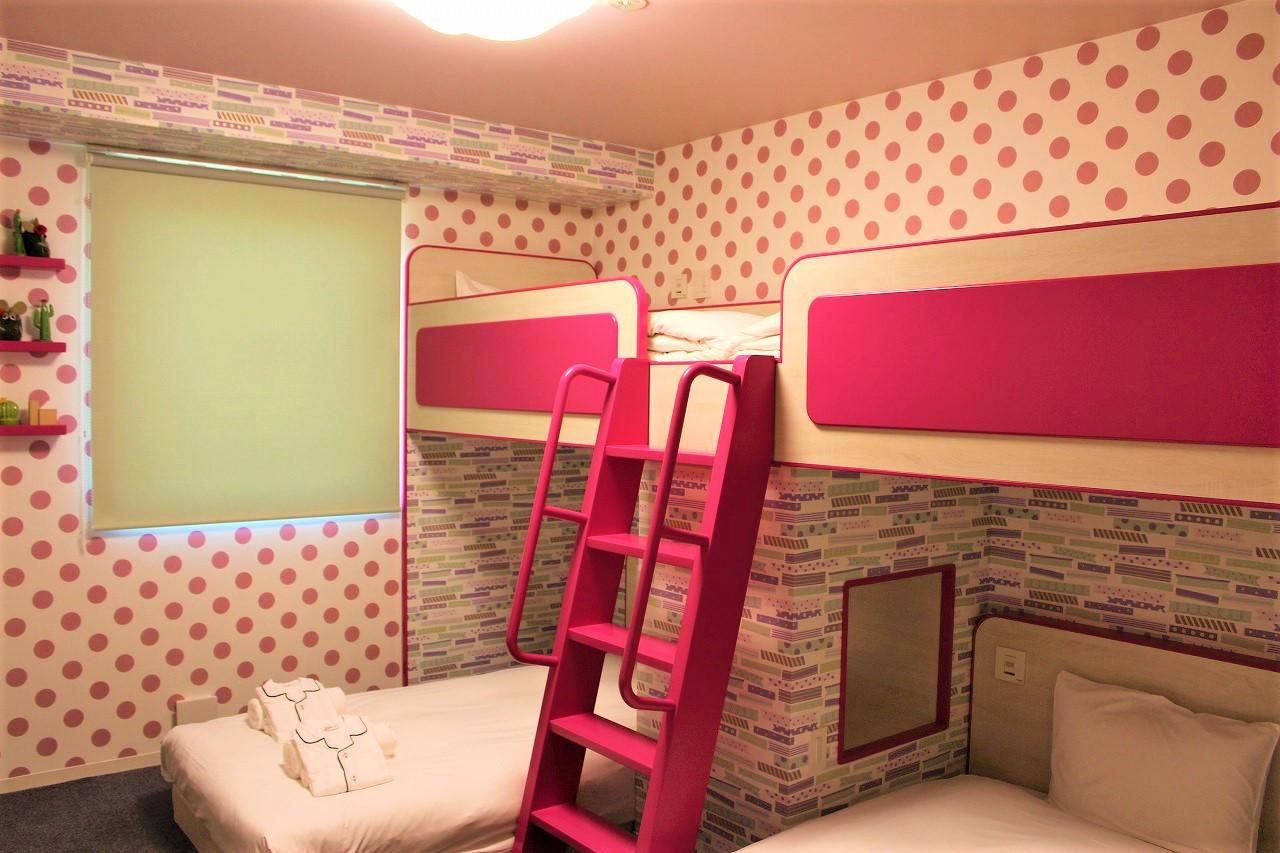 2段ベッドルーム(ドット)