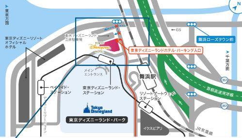 ディズニーランドホテルの周辺地図
