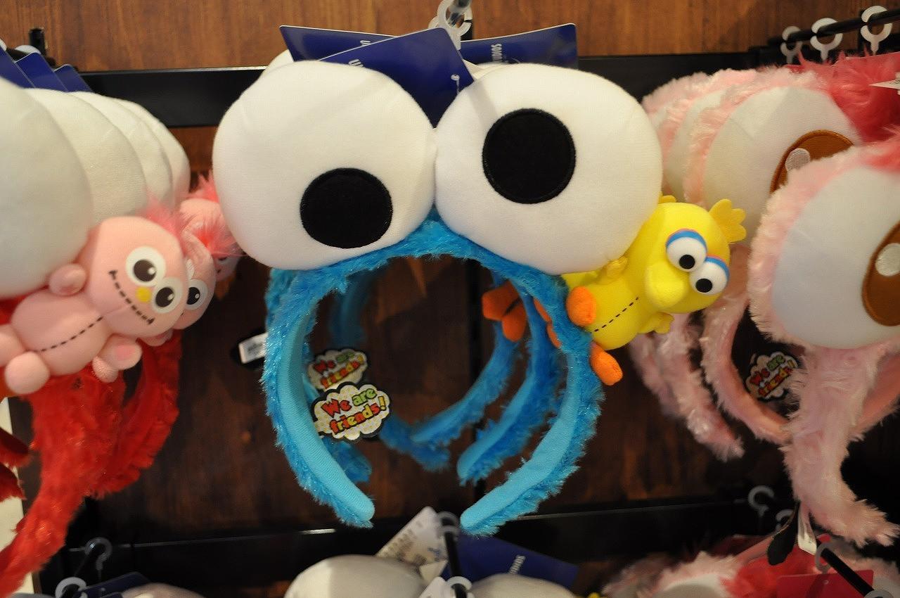 ビッグ目玉クッキーモンスター×ミニビッグバードのカチューシャ