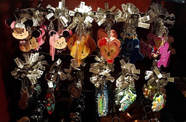 アウラニで販売しているキーホルダー各種