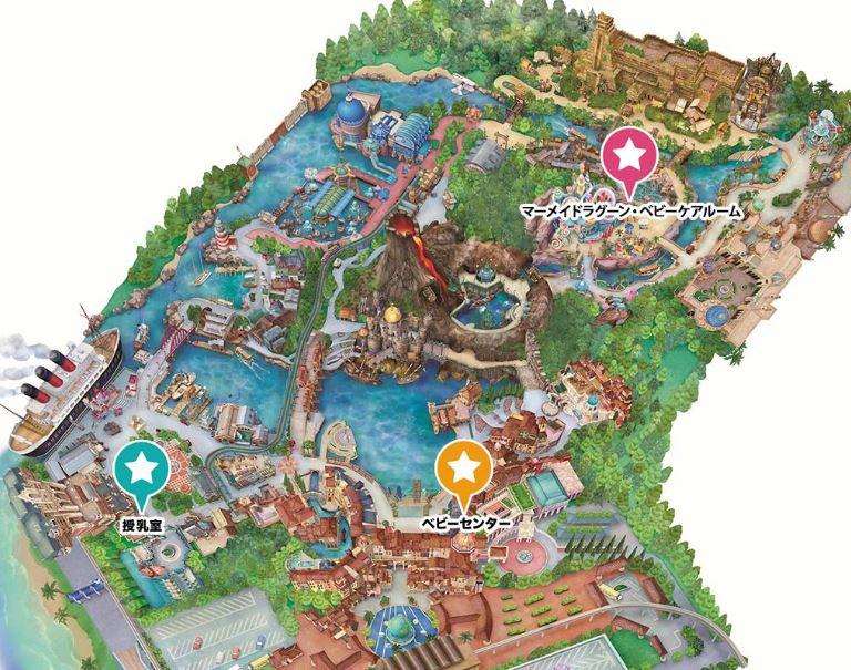 ベビーセンター・授乳室の地図