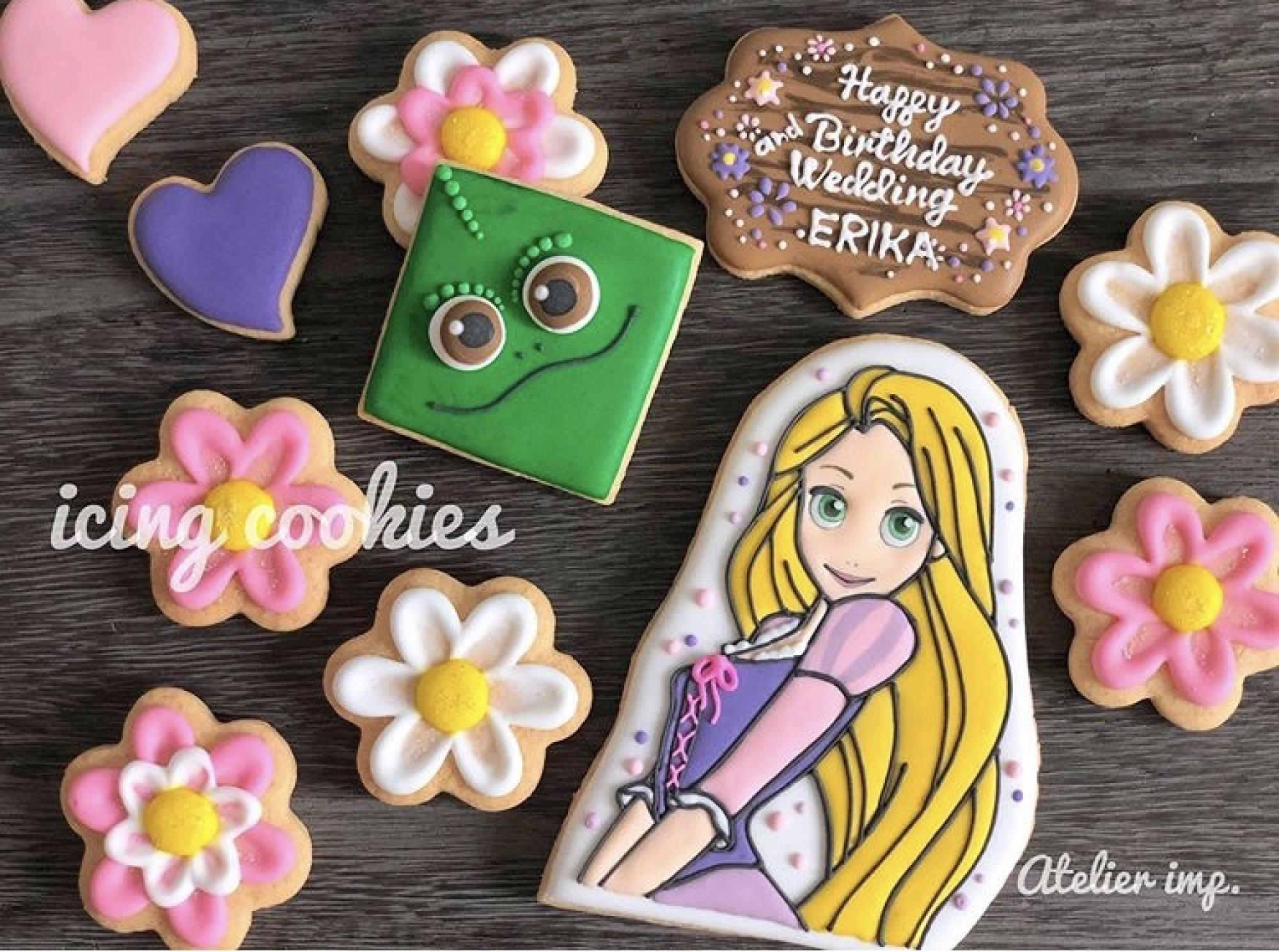 ディズニープリンセスイラスト活用法④:アイシングクッキー