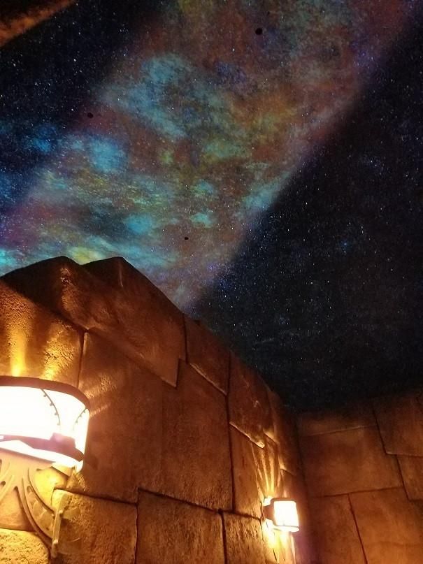 キューラインから見た満点の星空。キューラインが本当に凝ってます!