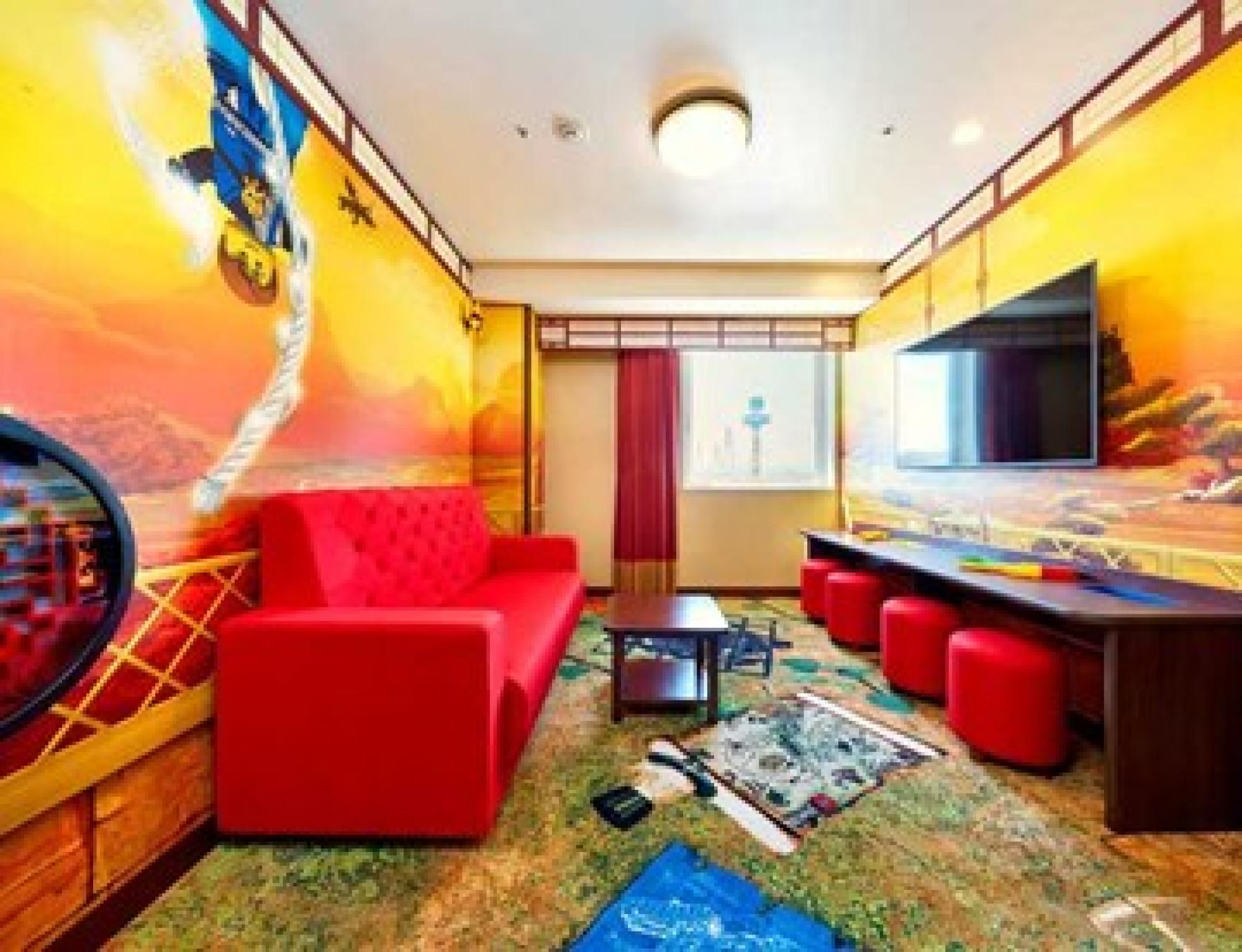 レゴ・ブロックの世界が散りばめられたホテル