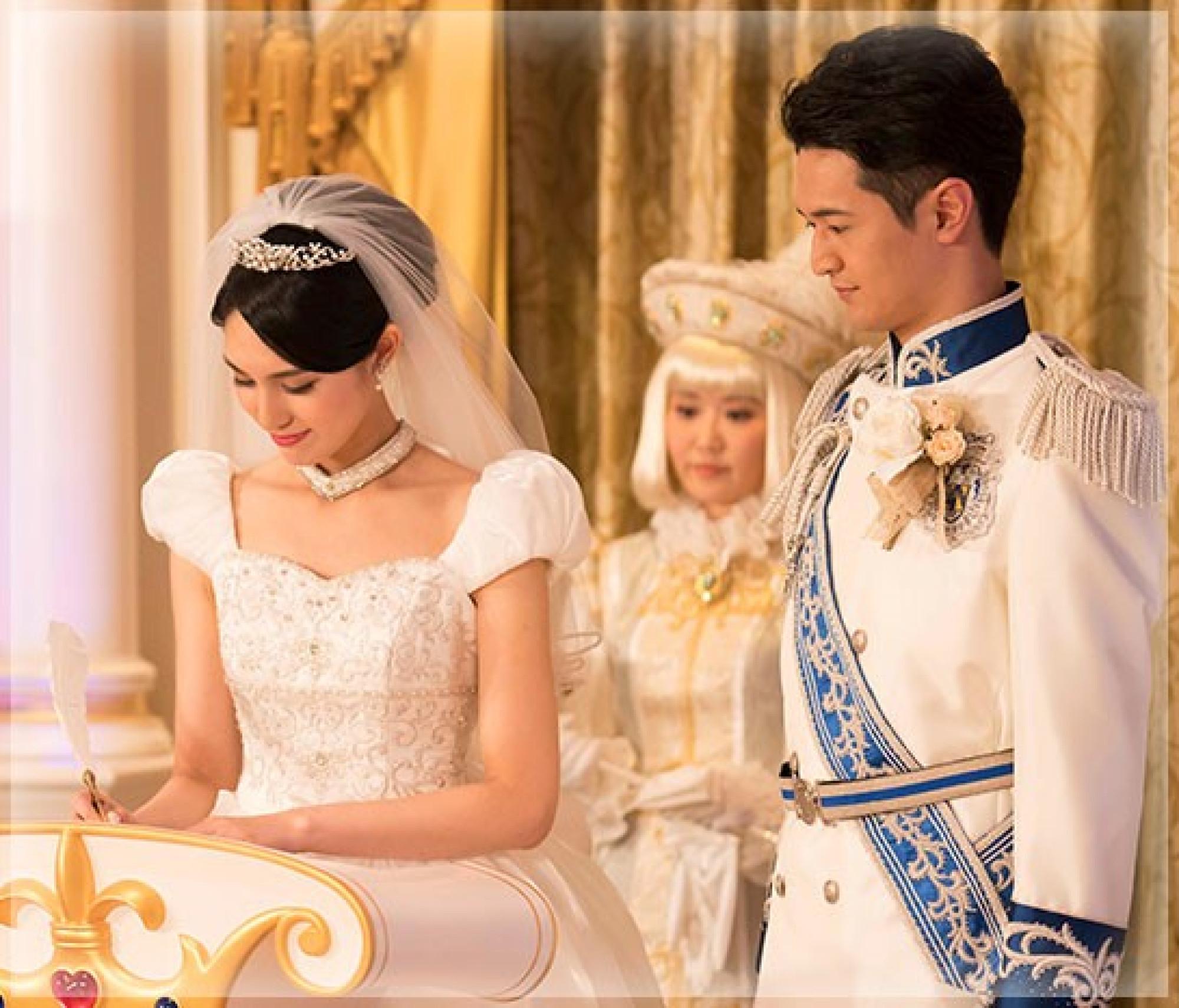 東京ディズニーランドシンデレラ城での結婚式