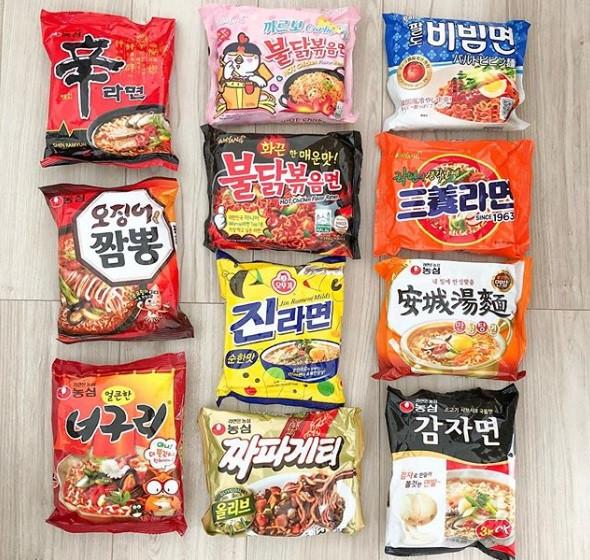 韓国の人気インスタントラーメン
